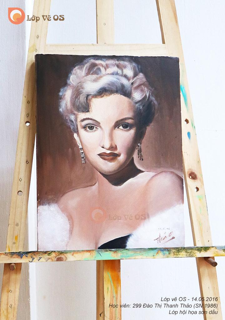 Tranh sơn dầu, chân dung, học viên 299 Đào Thị Thanh Thảo (SN:1986)