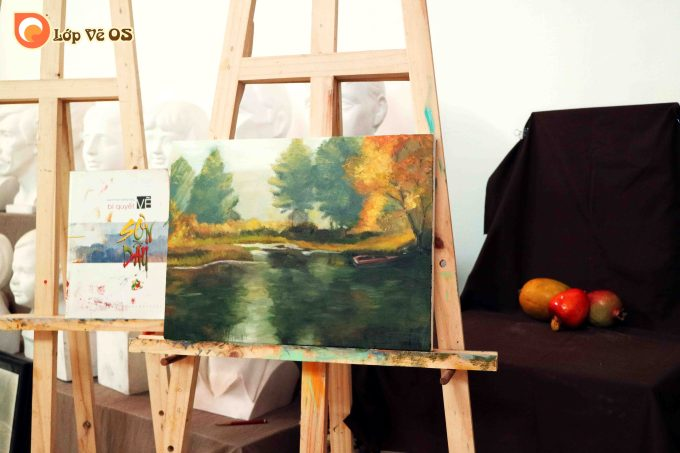 Bài vẽ sơn dầu 2 - phong cảnh
