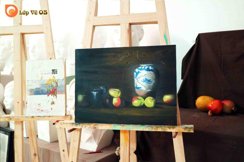Bài vẽ sơn dầu 3 - tĩnh vật