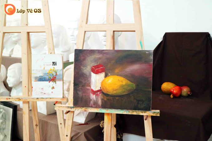 Bài vẽ sơn dầu 1 - tĩnh vật
