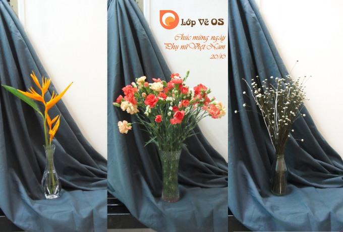 Lớp vẽ OS chúc mừng Phụ Nữ Việt Nam - 20/10