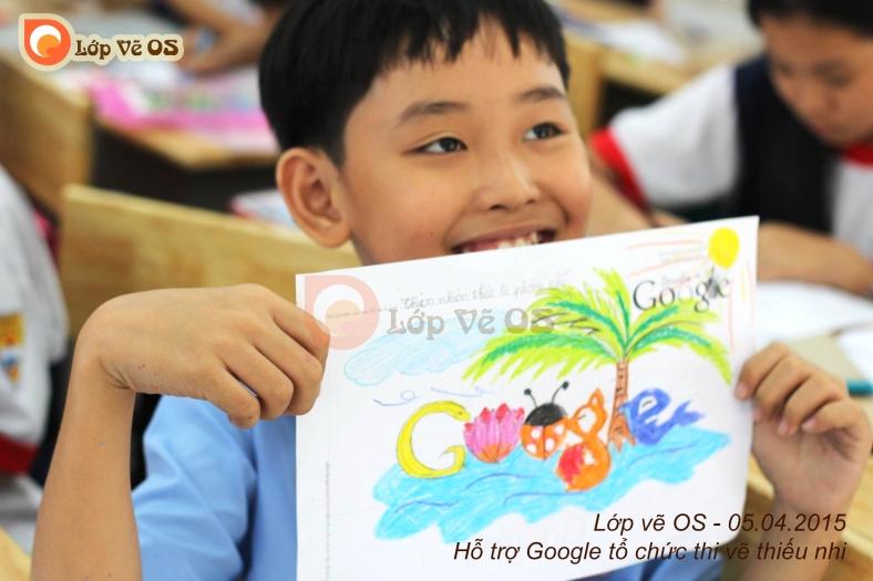 Các em trong cuộc thi Doodle 4 Google do Google tổ chức